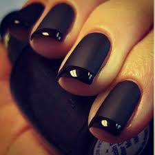 black-french-nails